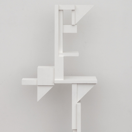white geometric sculpture