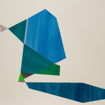 blue and green abstract shapes